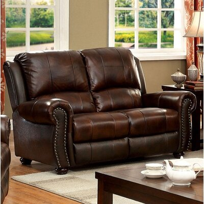 Turton Loveseat Upholstery: Brown