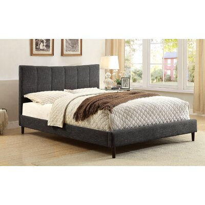 Shatnawi Upholstered Panel Bed Color: Dark Gray, Size: King