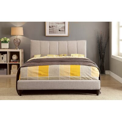 Shatnawi Upholstered Panel Bed Color: Beige, Size: Queen