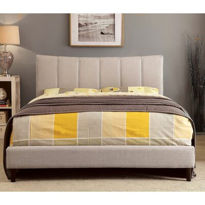 Ennis Platform Bed Size: Queen, Color: Beige