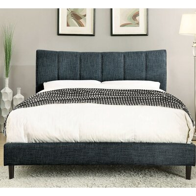 Ennis Platform Bed Size: California King, Color: Dark Blue