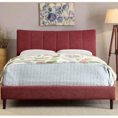 Ennis Platform Bed Size: Eastern King, Color: Red
