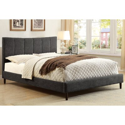Ennis Platform Bed Size: Eastern King, Color: Dark Gray