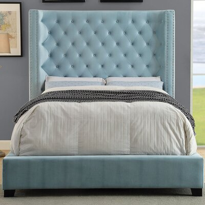 Mirabelle Platform Bed Size: Queen, Color: Blue