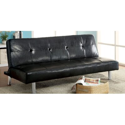 A&J Homes Studio ZD-2WF6A7J2BLK Eddi Convertible Sofa
