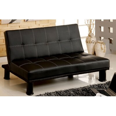 A&J Homes Studio ZD-2WF3A9J4BLK Quinn Convertible Sofa