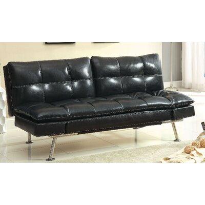 A&J Homes Studio ZD-2WF6A6J7BLK Benik Convertible Sofa