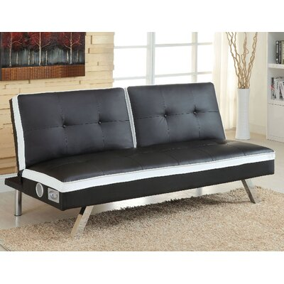 Harley Convertible Sofa Upholstery: Black/White
