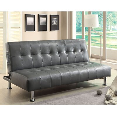 Bulle Convertible Sofa Upholstery: Gray