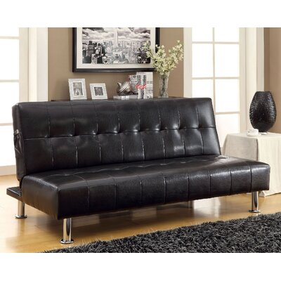 Bulle Convertible Sofa Upholstery: Black