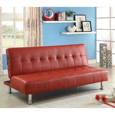Bulle Convertible Sofa Upholstery: Red