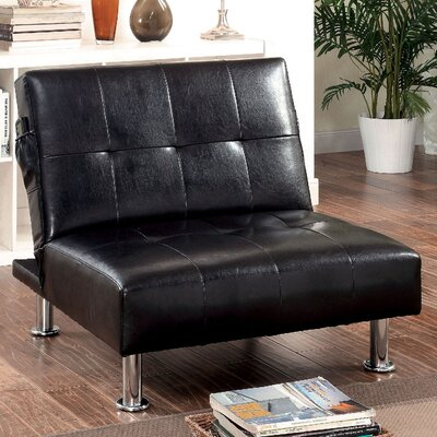 Bulle Convertible Chair Upholstery: Black