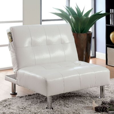 Bulle Convertible Chair Upholstery: White