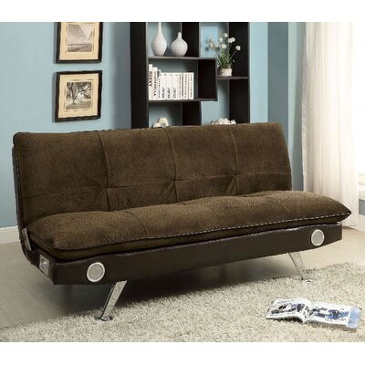 Gallagher Convertible Sofa Upholstery: Brown