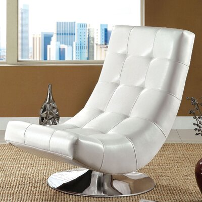 Trinidad Lounge Chair Upholstery: White