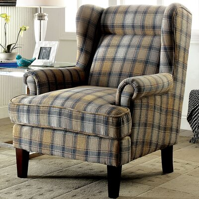 Minneapolis Wingback Chair Upholstery: Beige