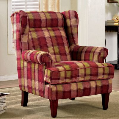 Minneapolis Wingback Chair Upholstery: Red