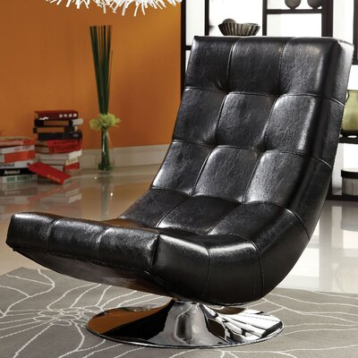 Trinidad Lounge Chair Upholstery: Black
