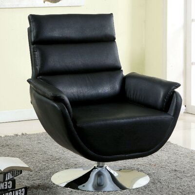 Kulm Lounge Chair Upholstery: Black