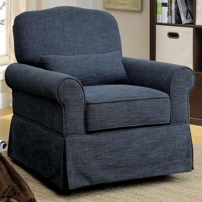 Klamath Manual Swivel Recliner Upholstery: Dark Blue
