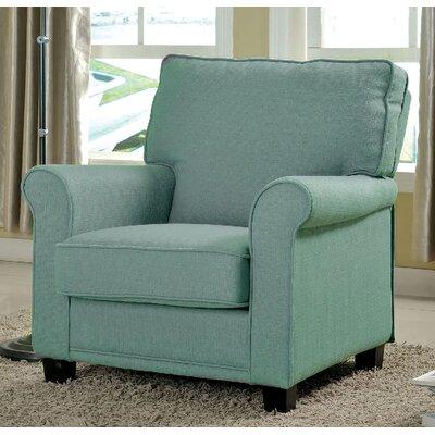 Belem Arm Chair Upholstery: Blue