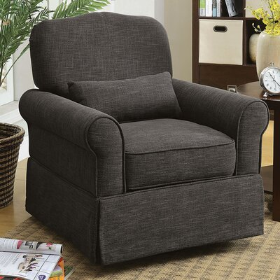 Klamath Manual Swivel Recliner Upholstery: Dark Gray