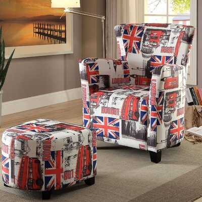 Leicester Wingback Chair and Ottoman