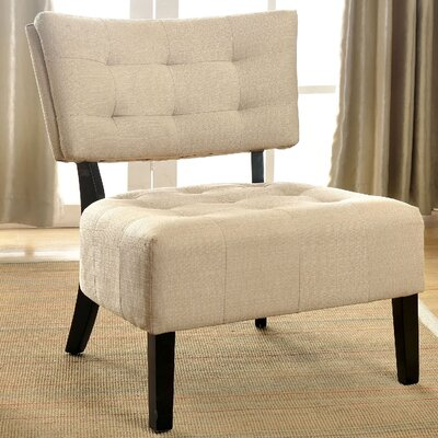 Seia Slipper Chair Upholstery: Ivory