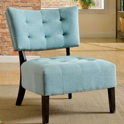 Seia Side Chair Upholstery: Blue