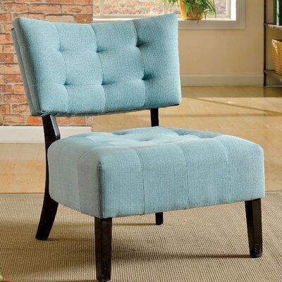 Seia Slipper Chair Upholstery: Blue