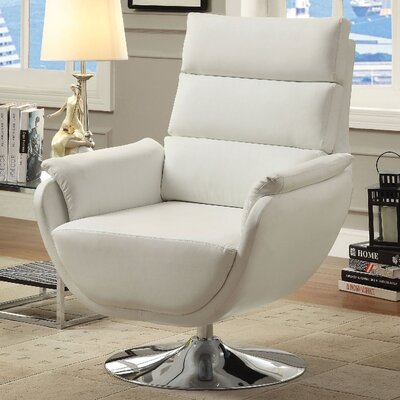 Kulm Lounge Chair Upholstery: White