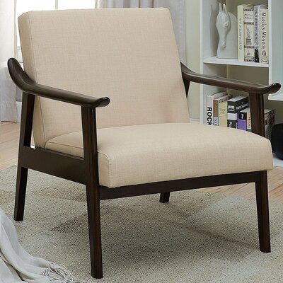 Beidre Arm Chair Upholstery: Beige