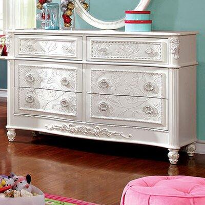 Henrietta 6 Drawer Dresser with Mirror
