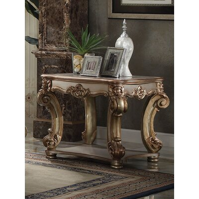 Vendoma End Table Color: Gold Patina