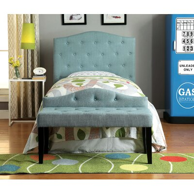 Napa Twin Upholstered Headboard Upholstery: Blue