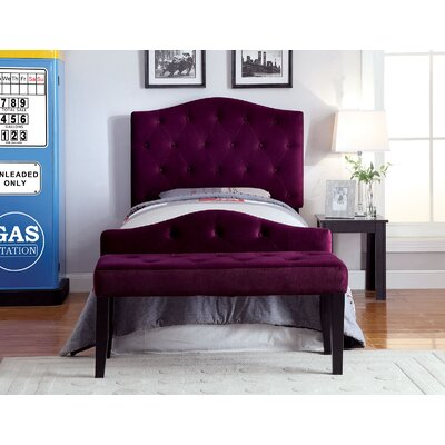 Napa Twin Upholstered Headboard Upholstery: Purple