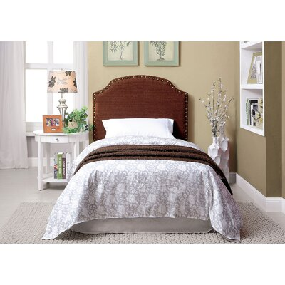 Ally Twin Upholstered Panel Headboard Upholstery: Brown