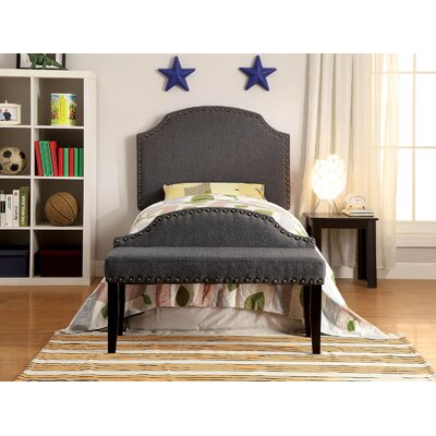 Ally Twin Upholstered Panel Headboard Upholstery: Gray