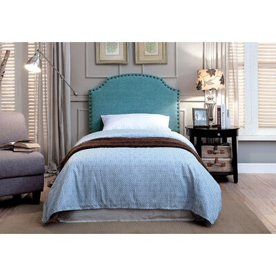 Ally Twin Upholstered Panel Headboard Upholstery: Blue