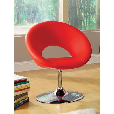 Kate Swivel Barrel Chair Upholstery: Red