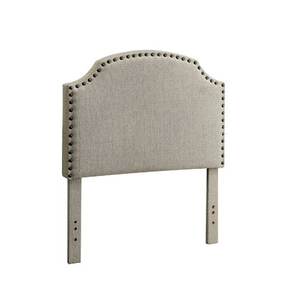 Ally Upholstered Panel Headboard Upholstery: Beige, Size: King
