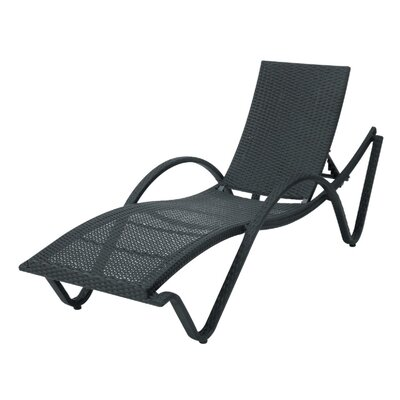 Barcelona Adjustable Chaise Lounge Finish: Black