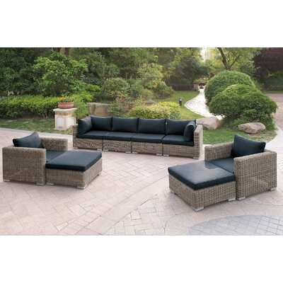 Harvey 8 Piece Patio Sofa Set I with Cushions