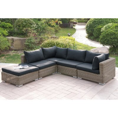 Harvey 5 Piece Patio Sectional Set II with Cushions