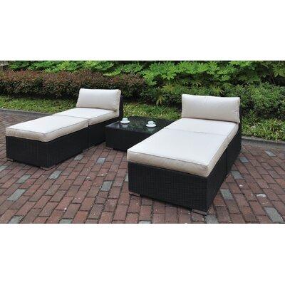 Dakota 5 Piece Chaise Lounge with Cushion