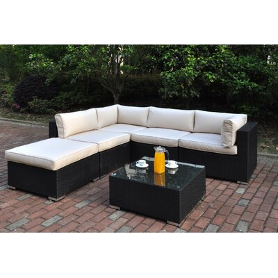 Dakota 6 Piece Deep Seating Group Set I with Cushion