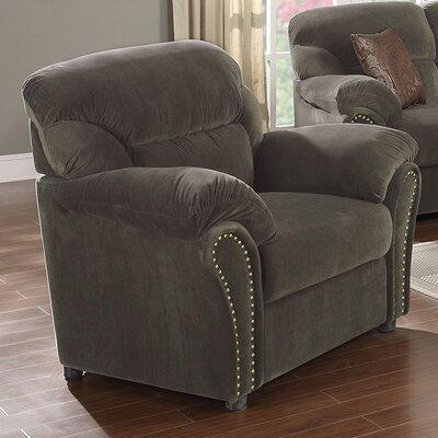 Velvet Armchair Upholstery: Olive Gray
