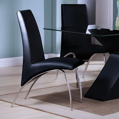 Angelica Side Chair Upholstery: Black