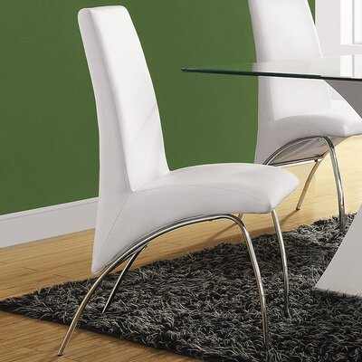 Angelica Side Chair Upholstery: White