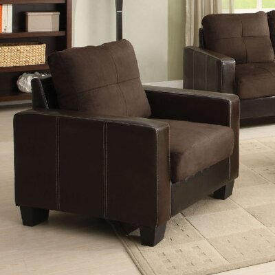 Parma Arm Chair Color: Chocolate